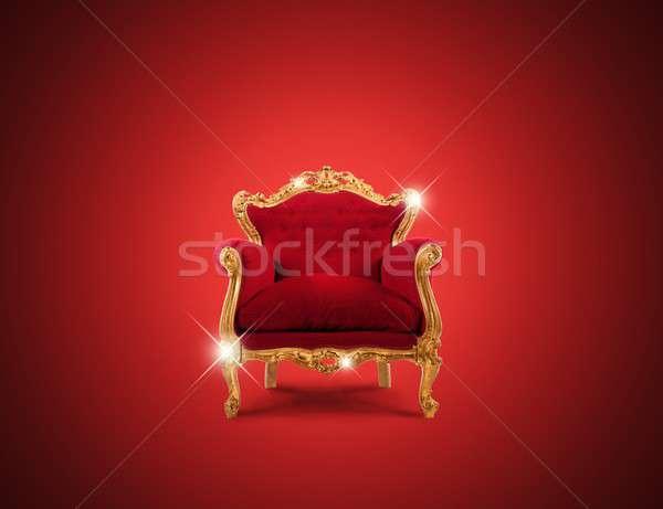 Luxury armchair Stock photo © alphaspirit