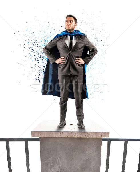 Super businessman Stock photo © alphaspirit