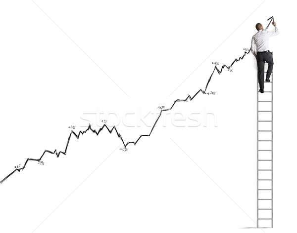 統計 ビジネスマン 作業 仕事 成功 マネージャ ストックフォト © alphaspirit