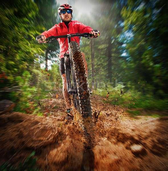 Extreme cyclist Stock photo © alphaspirit
