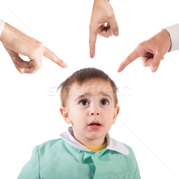 Reprimanded child Stock photo © alphaspirit