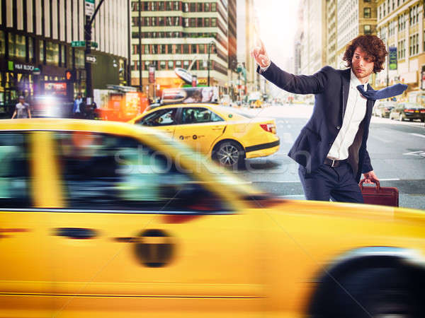 такси город бизнесмен бизнеса дороги человека Сток-фото © alphaspirit