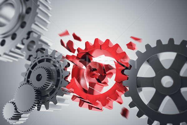 Attrezzi meccanismo connessione problema 3D Foto d'archivio © alphaspirit