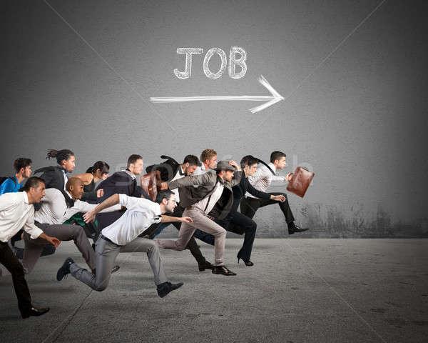 Follow the job arrow Stock photo © alphaspirit