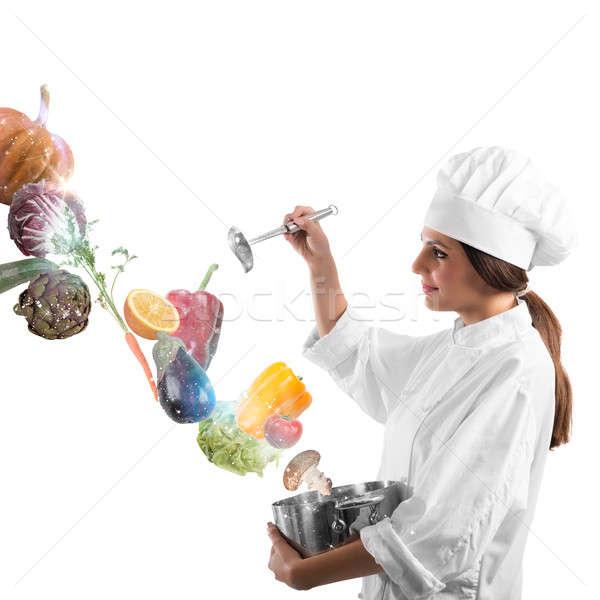 Magic in cooking Stock photo © alphaspirit