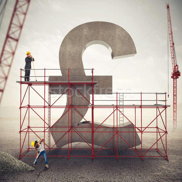 британский экономики 3D строительные леса стены Сток-фото © alphaspirit
