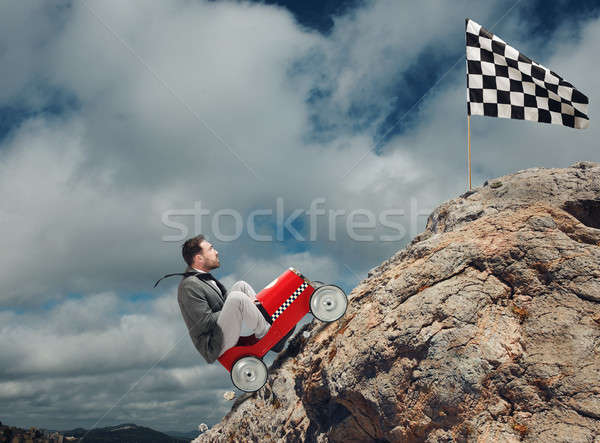Difficult career and achievement business goal Stock photo © alphaspirit