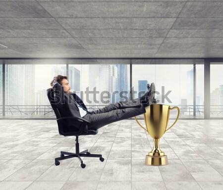 Businesswoman relaxes Stock photo © alphaspirit