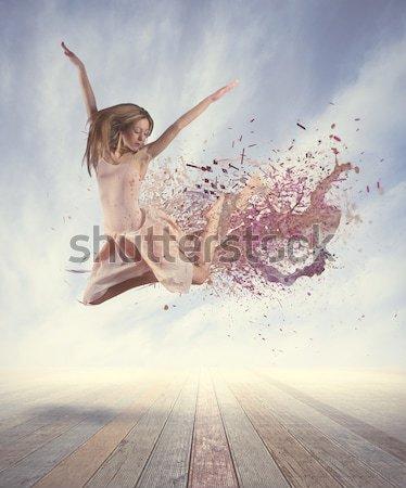 Dancer paints the white Stock photo © alphaspirit