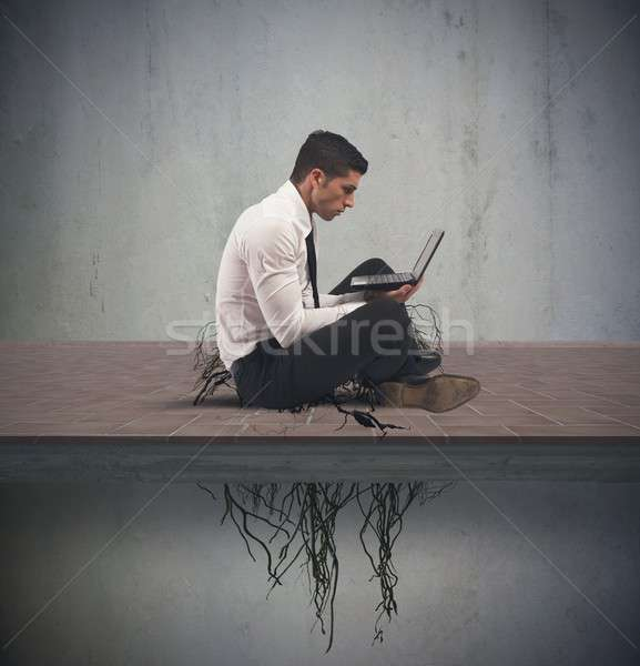 Internet addiction concept Stock photo © alphaspirit
