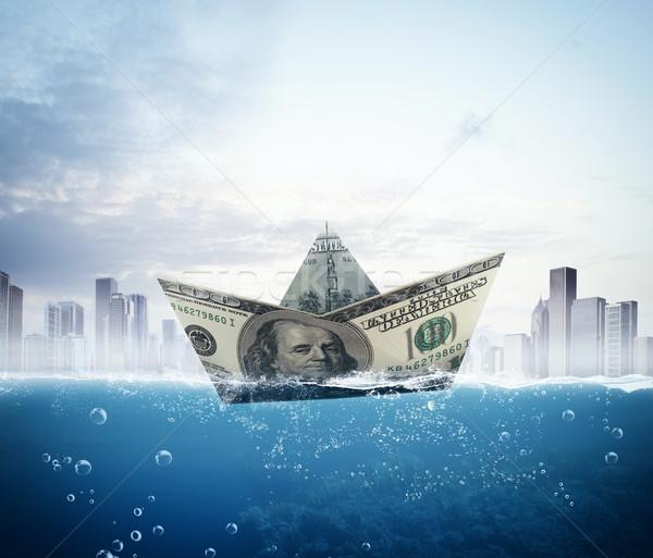 Bankbiljet boot groot business stad stedelijke Stockfoto © alphaspirit