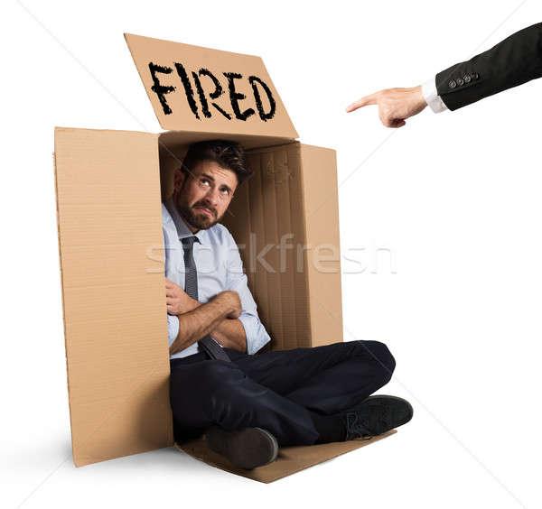 üzletember kétségbeesett üzlet munkás állás stressz Stock fotó © alphaspirit