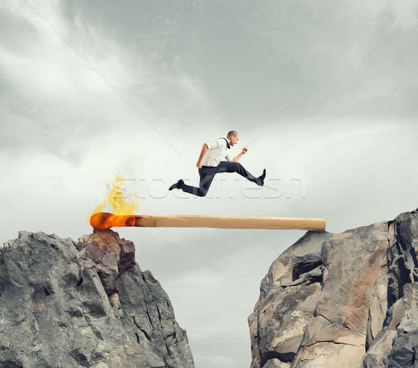 Hurry up and overcome the obstacle Stock photo © alphaspirit