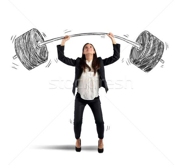 Strong businesswoman Stock photo © alphaspirit