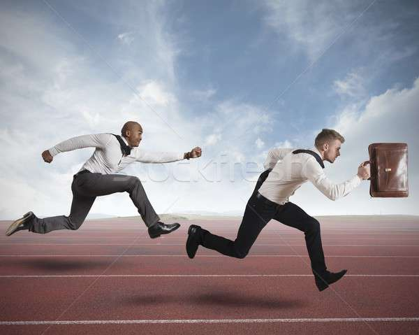Competition in business Stock photo © alphaspirit