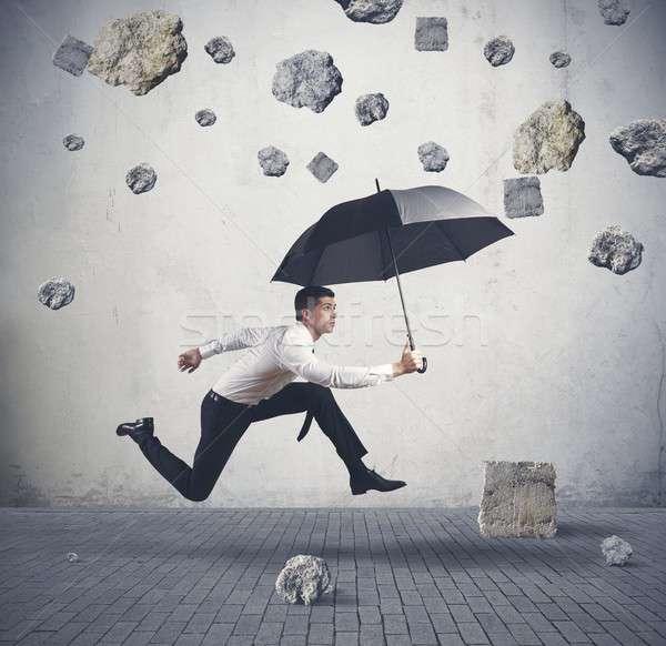 Abrigo tempestade crise negócio segurança empresário Foto stock © alphaspirit