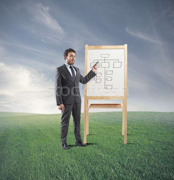 Business strategy training Stock photo © alphaspirit