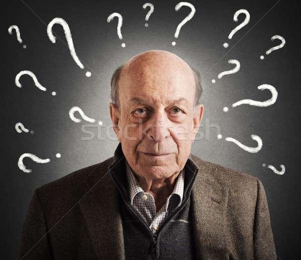 старик путать многие лице человека Сток-фото © alphaspirit