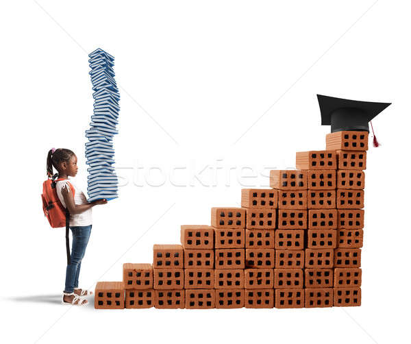 Course of study for a little girl Stock photo © alphaspirit