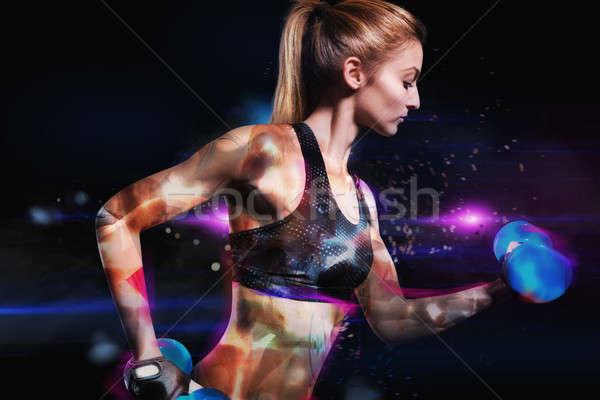 Galactic power workout Stock photo © alphaspirit