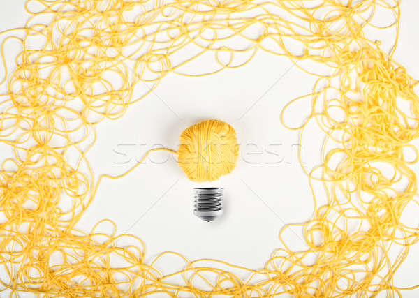 Concept of idea and innovation with wool ball Stock photo © alphaspirit