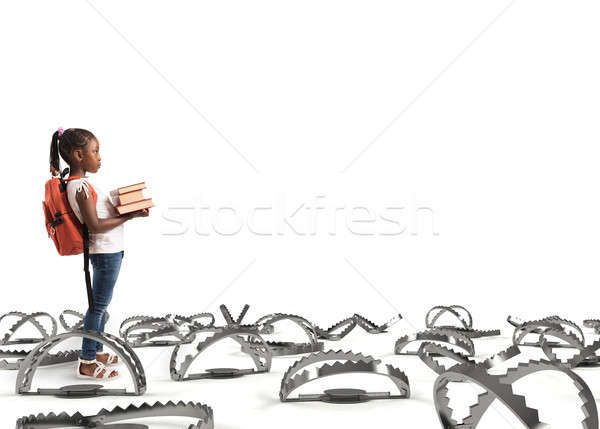Young student walking through the pitfalls Stock photo © alphaspirit