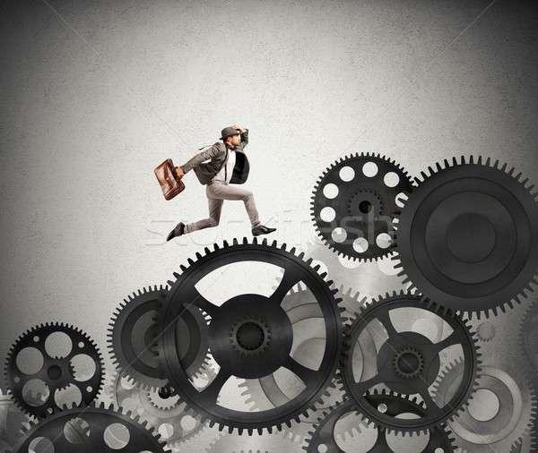 Affaires difficile carrière mécanisme travaux courir Photo stock © alphaspirit