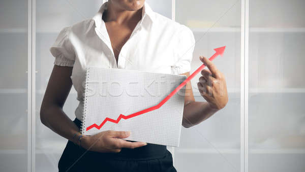 女性実業家 統計 トレンド ビジネス 手 作業 ストックフォト © alphaspirit