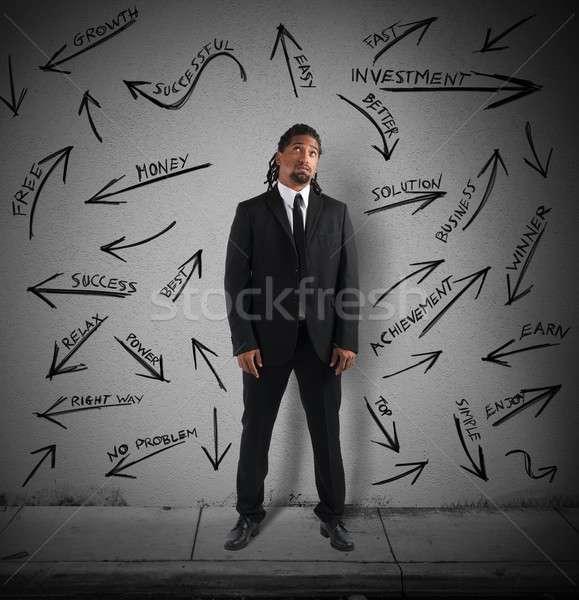 Zdjęcia stock: Najlepszy · sposób · sukces · biznesmen · mylić · człowiek