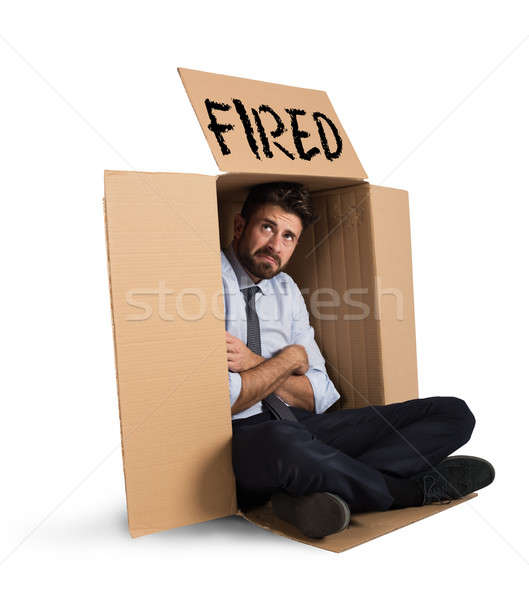 Empresario desesperado negocios trabajador Trabajo estrés Foto stock © alphaspirit
