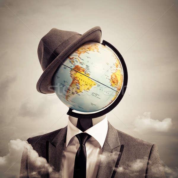 Man globetrotter Stock photo © alphaspirit