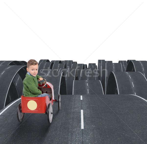 Difícil futuro nino calles todo calle Foto stock © alphaspirit