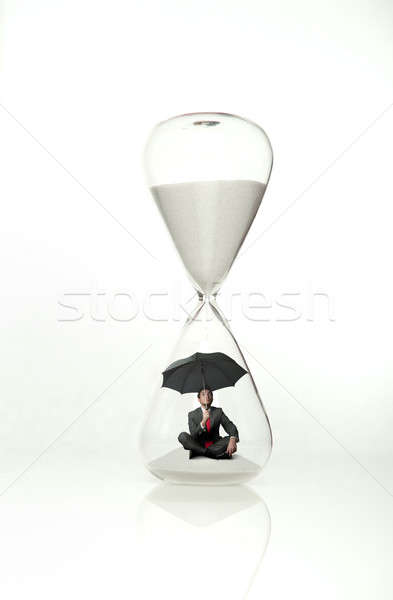 Businessman and time Stock photo © alphaspirit