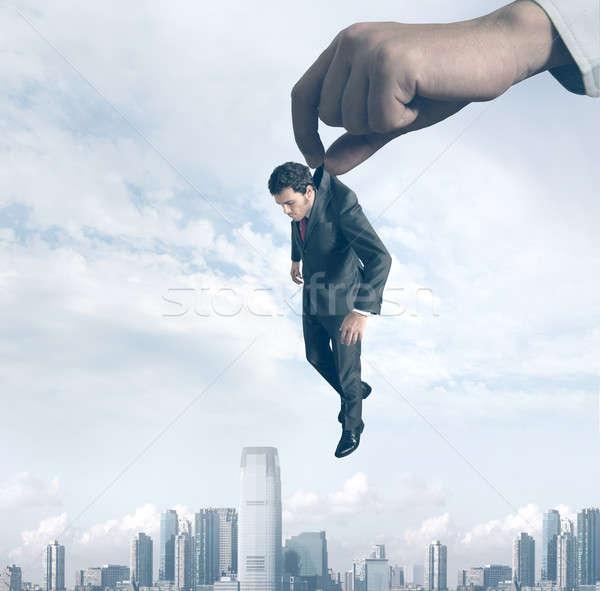 Fracaso empresario mano ciudad trabajo trabajador Foto stock © alphaspirit