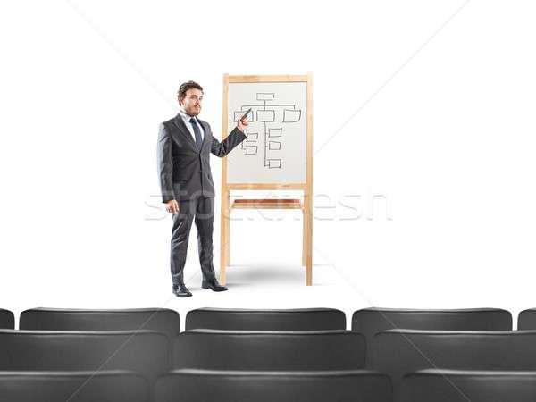 üzletember megbeszélés munka terv férfi szoba Stock fotó © alphaspirit