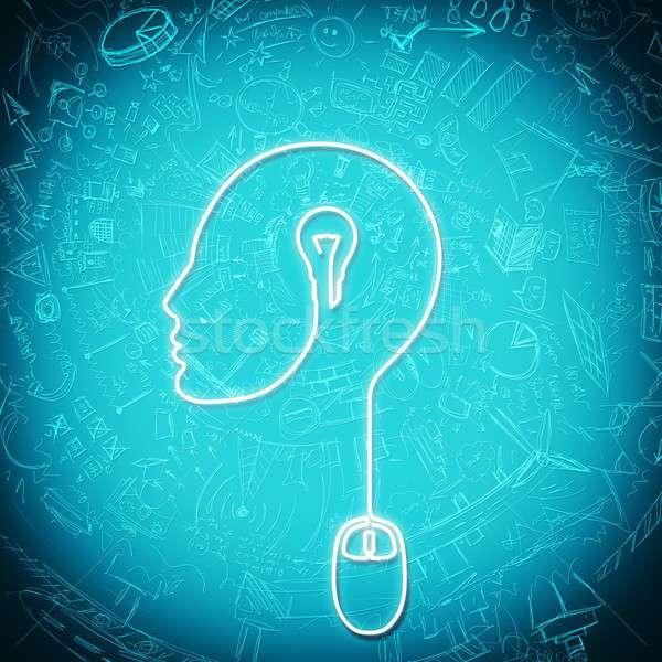 考え 線 電気 マウス コンピュータ インターネット ストックフォト © alphaspirit