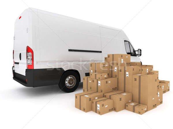 Prepare shipping. 3D Rendering Stock photo © alphaspirit