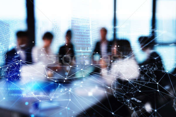 シルエット ビジネスパーソン オフィス ネットワーク 効果 パートナーシップ ストックフォト © alphaspirit