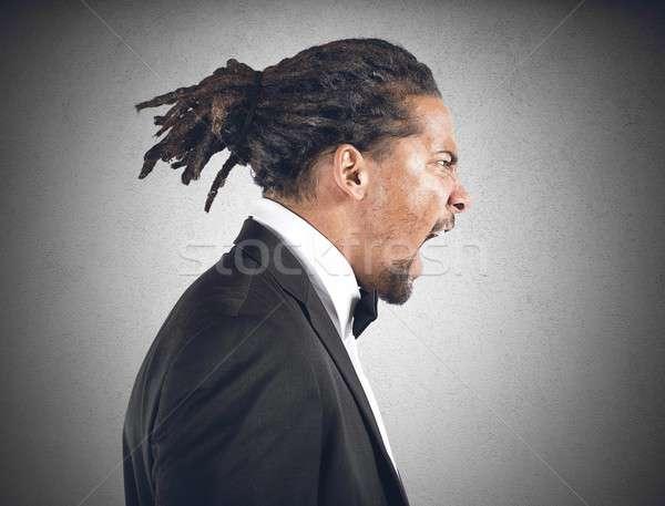 Angry man Stock photo © alphaspirit