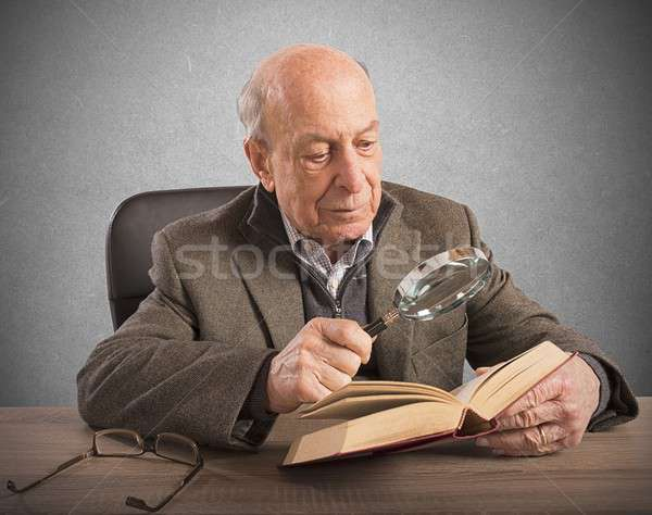 Stock photo: Old man knowledge and culture