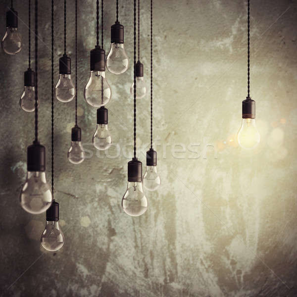 Brilliant idea among many ideas 3d rendering Stock photo © alphaspirit