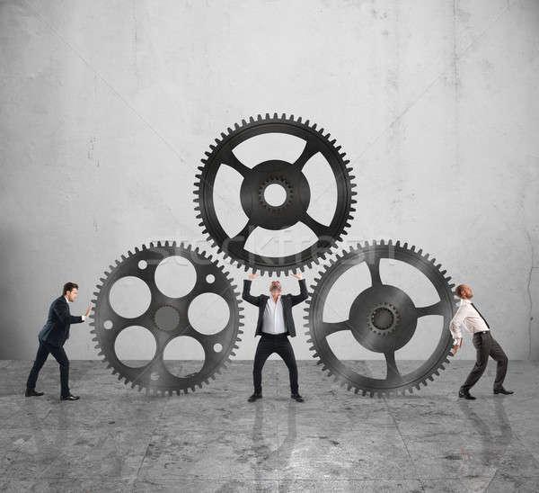 Teamwork work together Stock photo © alphaspirit
