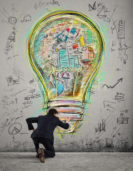 Stock photo: Paint business idea