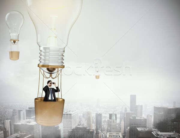 Vuelo nuevos idea 3D globo Foto stock © alphaspirit