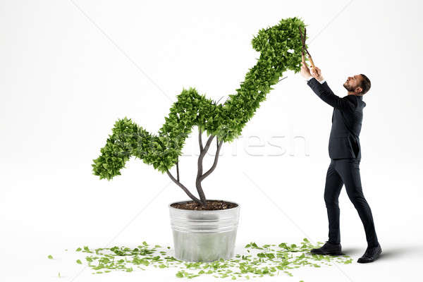 Growing the economy company . 3D Rendering Stock photo © alphaspirit