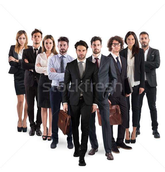 üzleti csapat vállalati csoport férfiak nők üzletemberek Stock fotó © alphaspirit