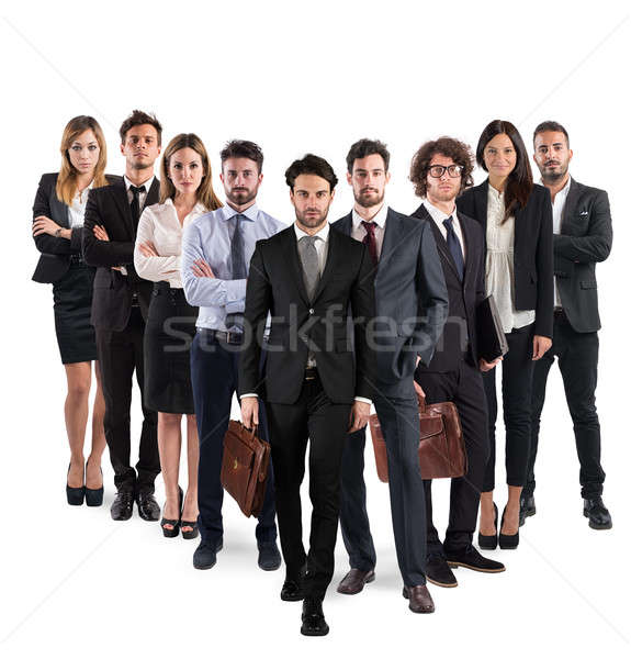 Business team corporate Stock photo © alphaspirit