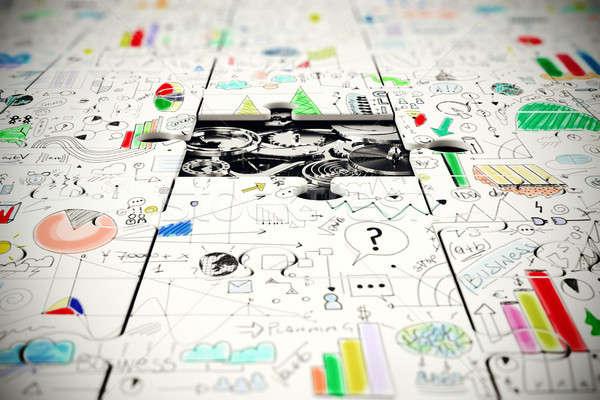 Сток-фото: передач · отсутствующий · кусок · головоломки · бизнеса