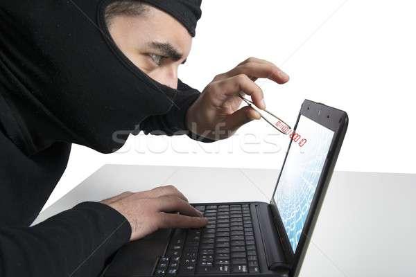 Сток-фото: хакер · вирус · концепция · ноутбука · компьютер · интернет