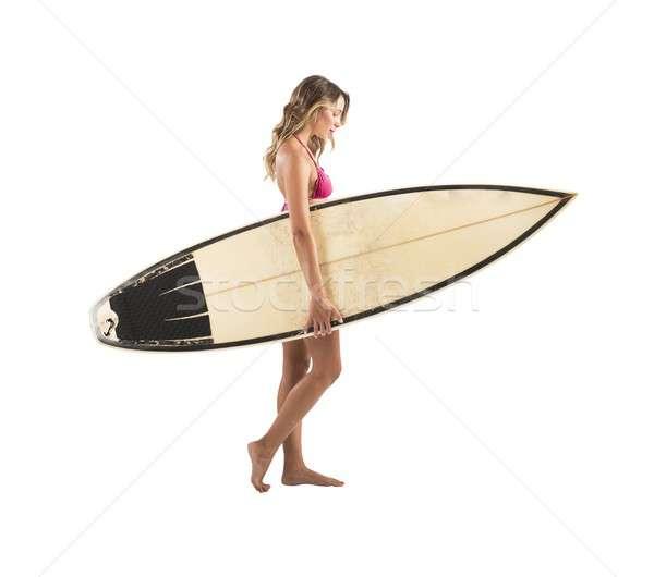 Stock photo: Surfer girl